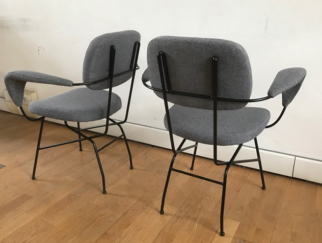 1950s  Eight Chairs by Velca-moioli-gallery-sedie velca rifatte grigie 6_main_636558839408851109.jpg